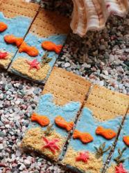 创意苏打饼干|海底世界 #樱花味道#
