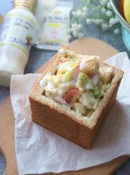果蔬沙拉吐司堡#丘比沙拉汁#