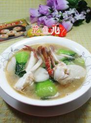 青菜螃蟹煮年糕