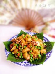 毛豆炒粽子