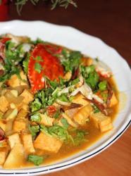洋葱豆腐咖喱蟹