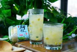 玉米鲜银耳糖水