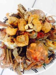 螃蟹炒油豆腐