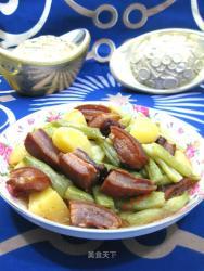 腊肉炖土豆芸豆