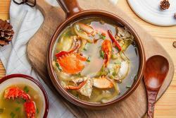 榨菜海蟹汤