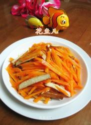 香干炒胡萝卜