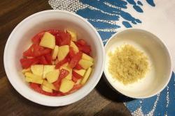 西红柿土豆牛肉松米粉