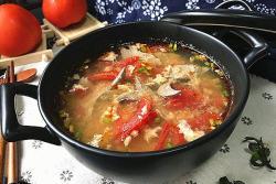 番茄鸡蛋猪肝汤