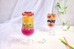 彩虹水果冰粉一学就会的瘦身美肤甜品#夏日下饭菜#