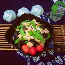 #菌类料理# 瘦身餐之蟹味菇炒虾仁
