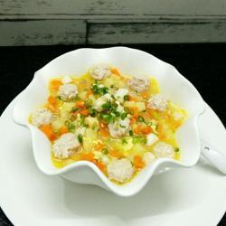 三丁肉丸粉丝汤