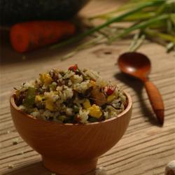 吃过一次就停不下来:橄榄菜四季豆肉丁蛋炒饭