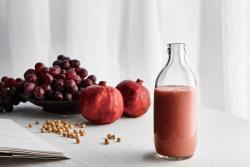 一抹朱红|黄豆石榴葡萄汁