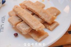 宝宝辅食-猪肉虾皮手指条