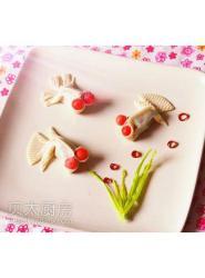 #亲子烘焙#小金鱼山药豆沙年糕
