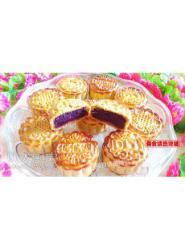 广式紫薯椰蓉月饼