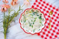 猪肝菠菜粥