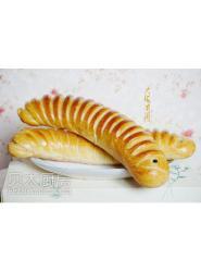 树莓毛毛虫面包