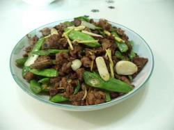四季豆炒鸭