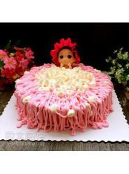 树莓慕斯蛋糕(泡澡娃娃版)