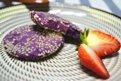 0失败无糖甜品:紫薯糯米饼