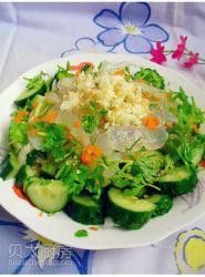 黄瓜拌海蜇头