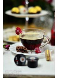 树莓果酱咖啡和一你起打造奢华的下午茶
