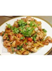 干锅鸡(豆油伯缸底酱油)