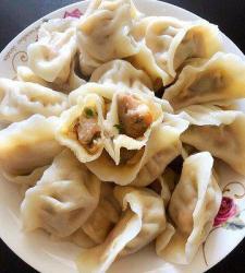 虾仁肉饺子