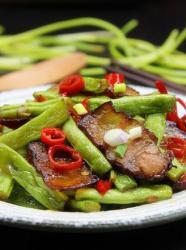 年夜饭必备,腊肉炒四季豆