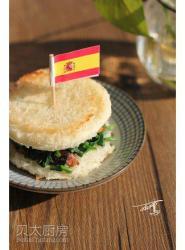 沙丁鱼菠菜三明治