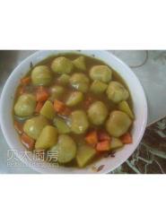咖喱鱼丸(家常菜)