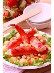 香烤蟹肉配哈密瓜果仁