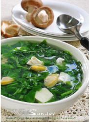 【发现水的味道】蛤蜊苋菜豆腐汤