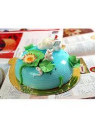 蛇蛋糕图片-可爱蛇蛋糕-美女蛇卡通生日蛋糕