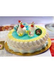 生肖鸡蛋糕-卡通鸡蛋糕图片-鸡蛋糕