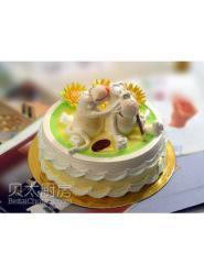 猴子蛋糕图片-猴子生日蛋糕-大嘴猴蛋糕