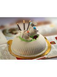 狗狗蛋糕-狗蛋糕做法-生肖狗蛋糕-小狗生日蛋糕