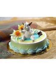 龙生日蛋糕-龙生日蛋糕图片-卡通龙蛋糕
