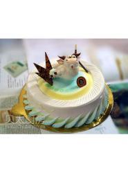 卡通牛蛋糕-牛生肖蛋糕-牛蛋糕图片-生肖牛蛋糕