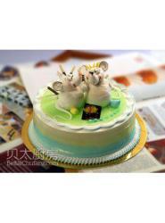 12生肖老鼠蛋糕-老鼠蛋糕图片-米老鼠蛋糕