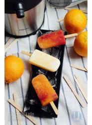 #夏日最in喝橙子#橙子树莓&橙子酸奶冰棒