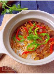 腊肉虾米煲仔饭