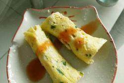 银鱼鹌鹑蛋饼