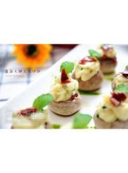 巴玛发酵火腿春日清爽餐前沙拉----蘑茹火腿豆泥沙拉