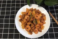 菠萝大虾咕咾肉
